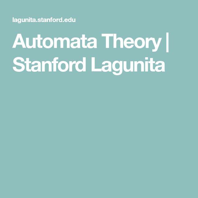 Automata Theory | Stanford Lagunita
