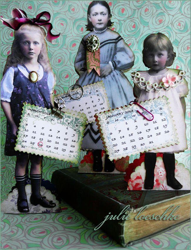 PaperWhimsy Calendar Girls by Julie Loeschke