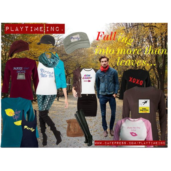 There are more than leaves in the crisp autumn air... the fall is a great time for kindling a new romance or firing up your existing one. www.cafepress.com/playtimeinc