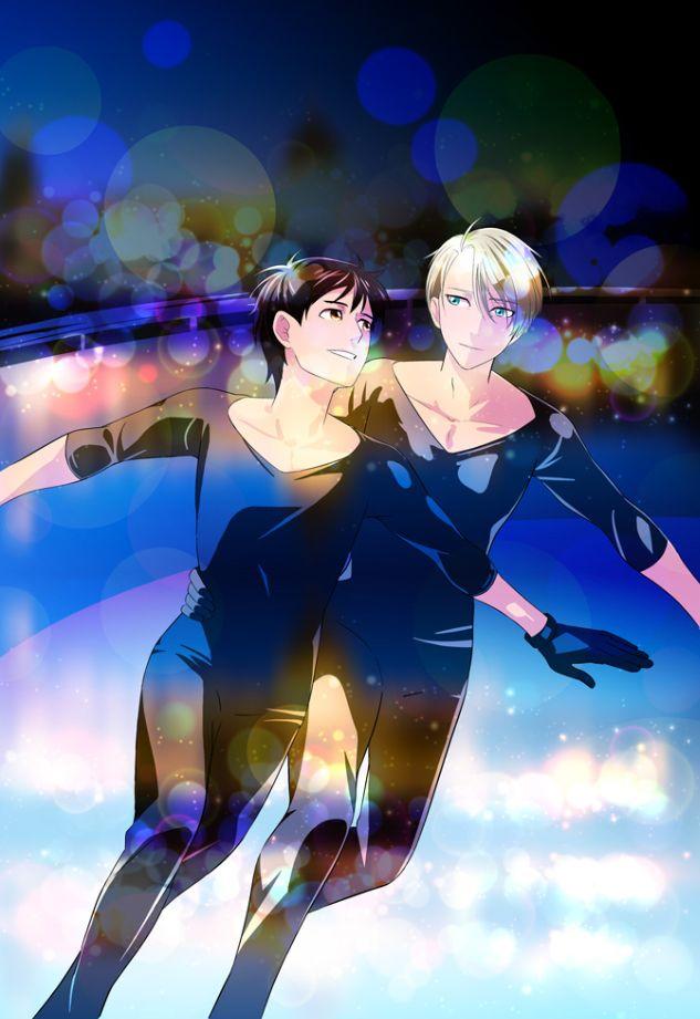 Yuuri Katsuki and Victor Nikiforov - Yuri!!! on Ice by みきち@12/4銀盤のg on pixiv (id: 162238)