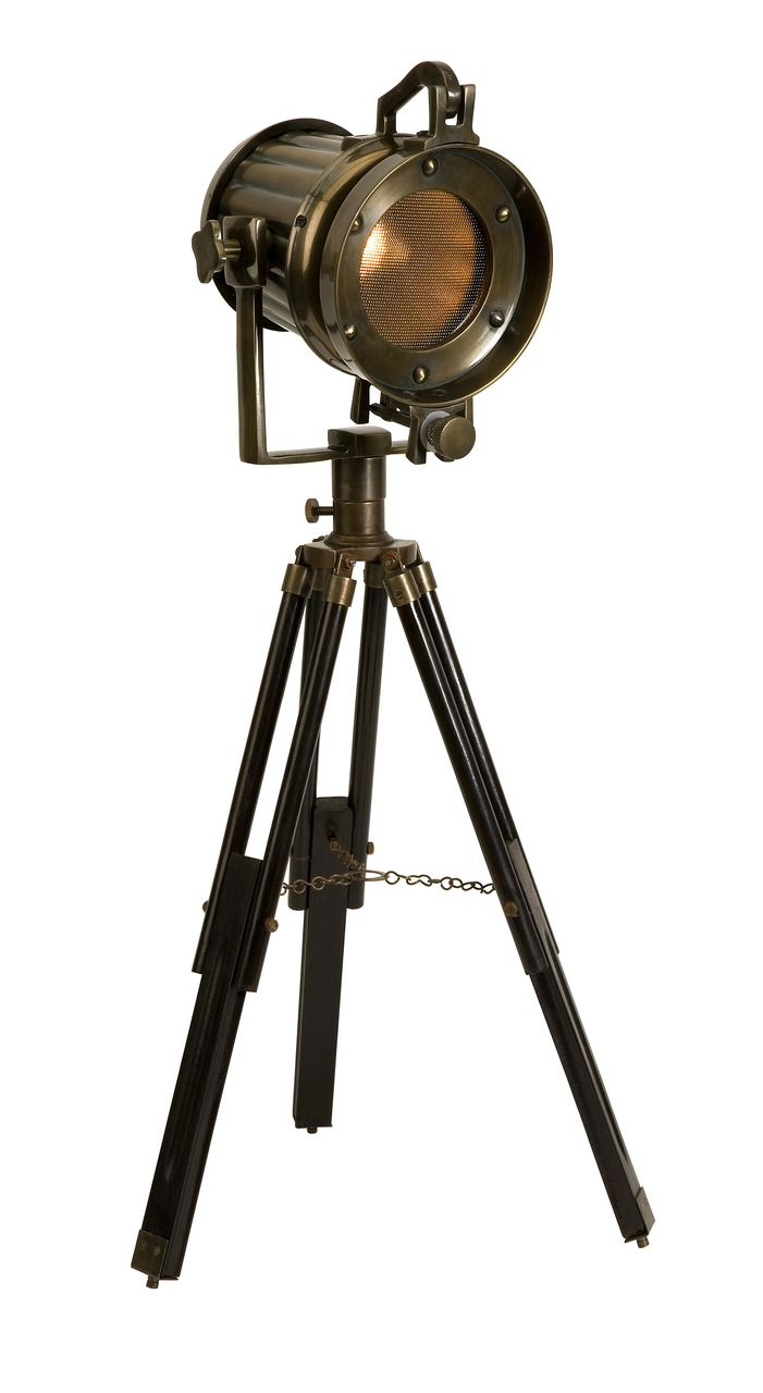 Imax bf carey table lamp hautelook - With An Antique Like Charm From An Old Movie The Retro Industrial Tripod Table