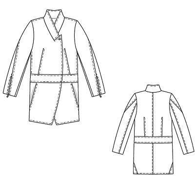 Пальто - выкройка № 120 из журнала 9/2010 Burda – выкройки пальто на Burdastyle.ru