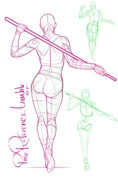A collection of anatomy and pose references for artists. More