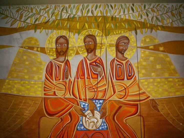 Santíssima Trindae - painel capela do 2º piso de Vila Kostka, Itaici (SP)