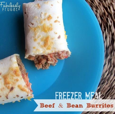 These are some high class frozen burritos! Delicious and awesome to have stashed away for a quick lunch or dinner.