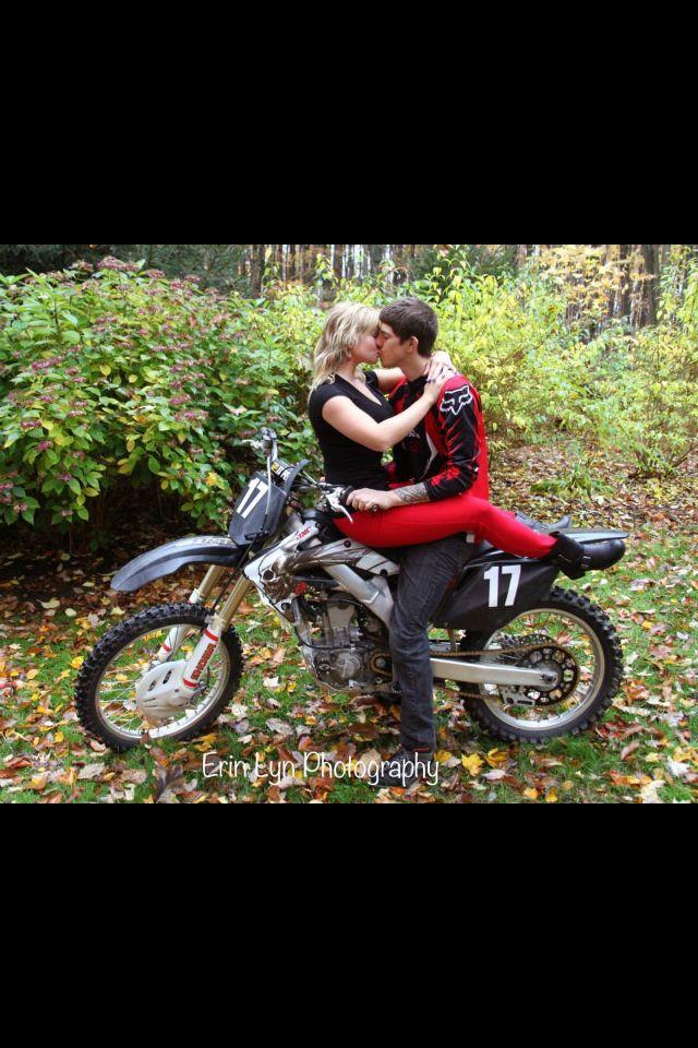 Dirt Bike Engagement Love Motocross Love Love On The