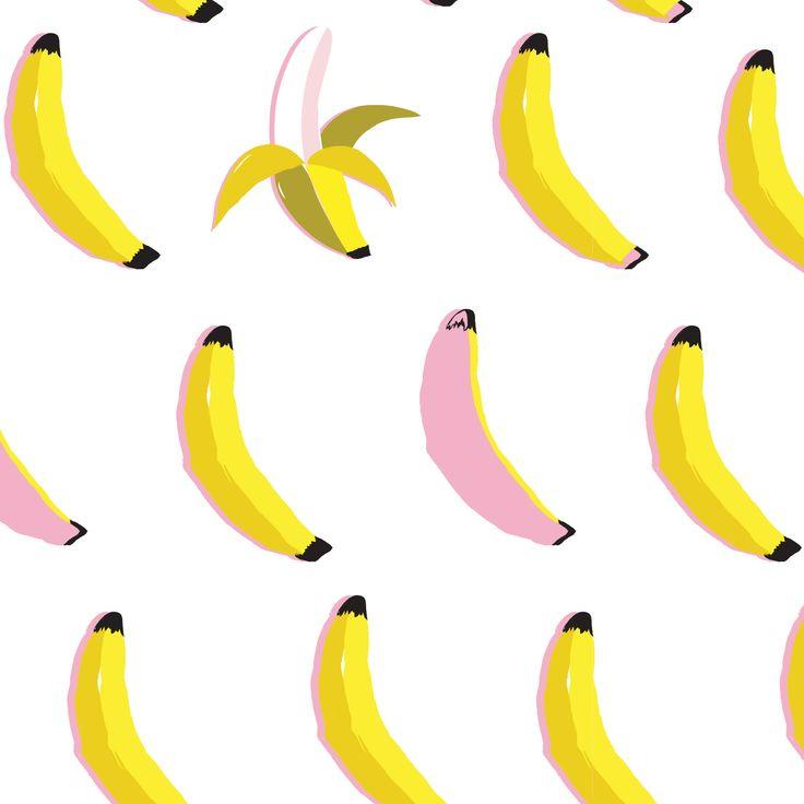 Kat Kalindi - www.teamkitten.com fruit banana print and pattern artwork surtex trend quirky art