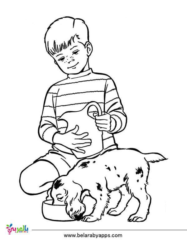 رسومات عن الرفق بالحيوان للتلوين جاهزة للطباعة للاطفال بالعربي نتعلم Horse Coloring Pages Dog Coloring Page Bible Coloring Pages