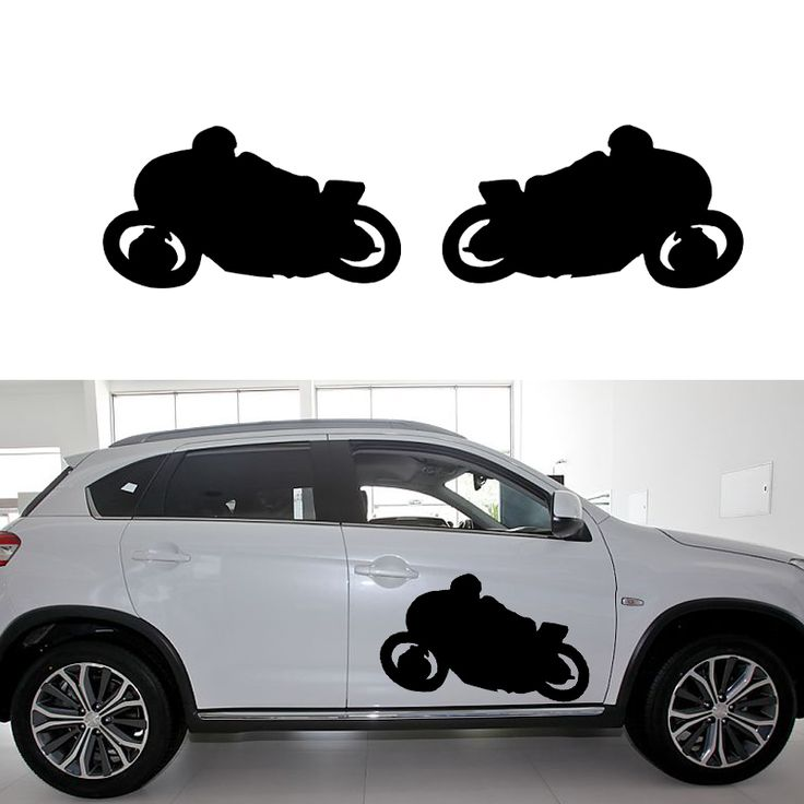 58cm x 31.23cm 2 x Motorcycle Graphical (one For Each Side) Car Sticker For Cars Side, Truck Window Door Vinyl Decal 8 Colors
