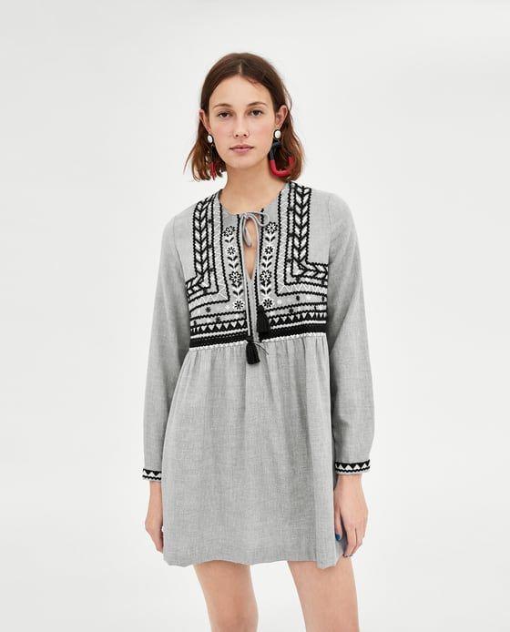 ZARA - WOMAN - DRESS WITH EMBROIDERY