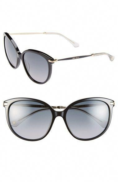 443dcb4a13300 Free shipping and returns on Jimmy Choo 57mm Cat Eye Sunglasses at Nordstrom.com.  A modified cat-eye silhouette updates gradient-lens sun…