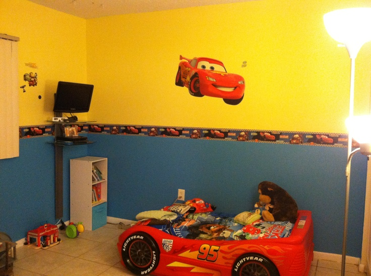 thanks to pintrest i turned my sons baby room to a toddlers