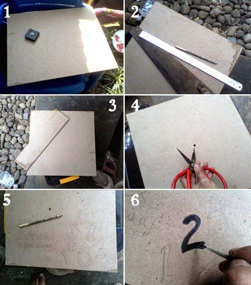 garasibabeh: [DIY] jam dinding dari paperblock dan mesin jam bekas
