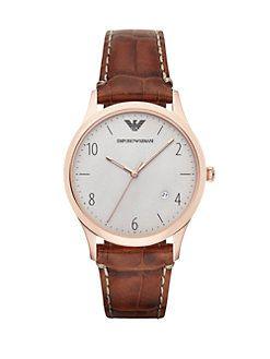 Emporio Armani - Round Stainless Steel Watch