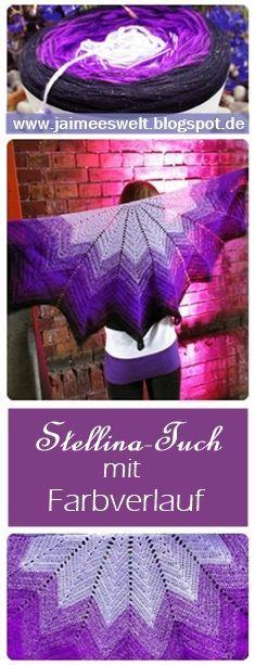 Inspirational Dieses Tuch ist mit Wollfamos Farbverlaufsgarn entstanden Die Anleitung dazu findet Ihr in unserem