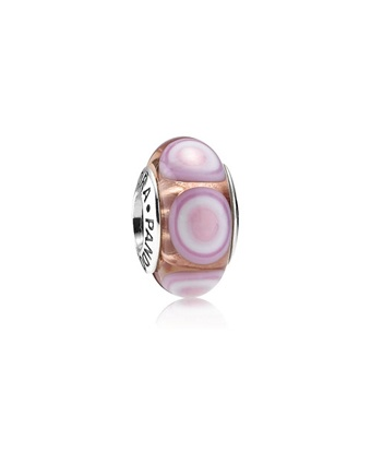 Pandora Murano Pink Stepping Stones Charm $35.00 Available at: www.always-forever.com