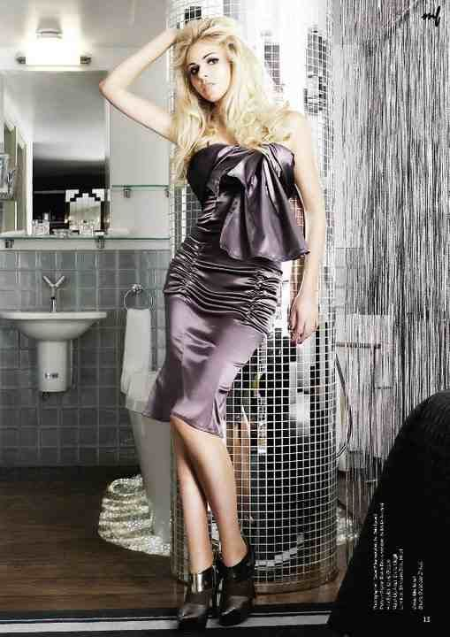 "Zoe Salmon's interview shoot - Styled by Rivkie Baum  ""Sophia"" pleated hips dress published by Myfair Fashion Magazine, London www.lineadiluna.com"