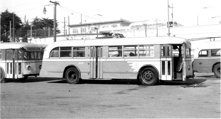 SF MUNI  Brill trolley  coach  1947