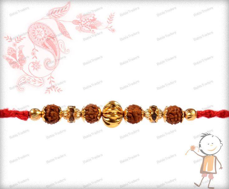 Gold Plated Rakhi - Buy Online Designer Rakhi - Babla Rakhi ✓ Starting Price @ Rs. 350 ✓ Free Shipping India ✓ Rakhi Delivery Time : 2-4 Workings Days. Shop Now >>> http://www.bablarakhi.com/54-send-gold-plated-rakhi-online