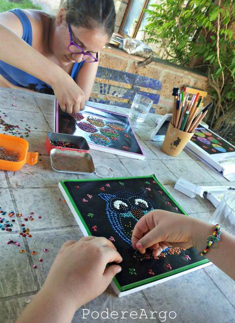 Realizzare un quadro con spilli e paillettes #DIY Sequin Picture set #esperienzacreativa #fun #kids #creativity