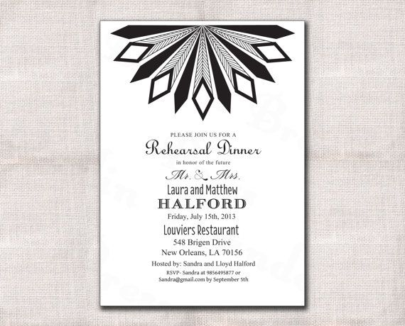 Best 25+ Art deco rehearsal dinners ideas on Pinterest Art deco - business dinner invitation sample