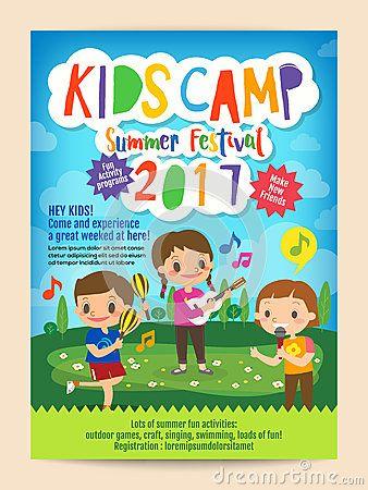 9 best Summer Camp Flyer Inspiration images on Pinterest Flyers - summer camp flyer template