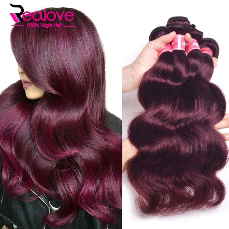 Cheap hair product salon, Buy Quality hair darkening products directly from China hair rmoval Suppliers: #99j Peruvian Virgin Hair Body Wave 3Pcs She Hair Peruvian Body Wave 100% Human Hair Extensions Burgundy Peruvian Hair Bundles