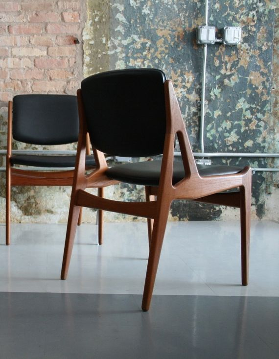 scandinavian design chairs wood. arne vodder; teak and leather side chairs, 1956s scandinavian design chairs wood