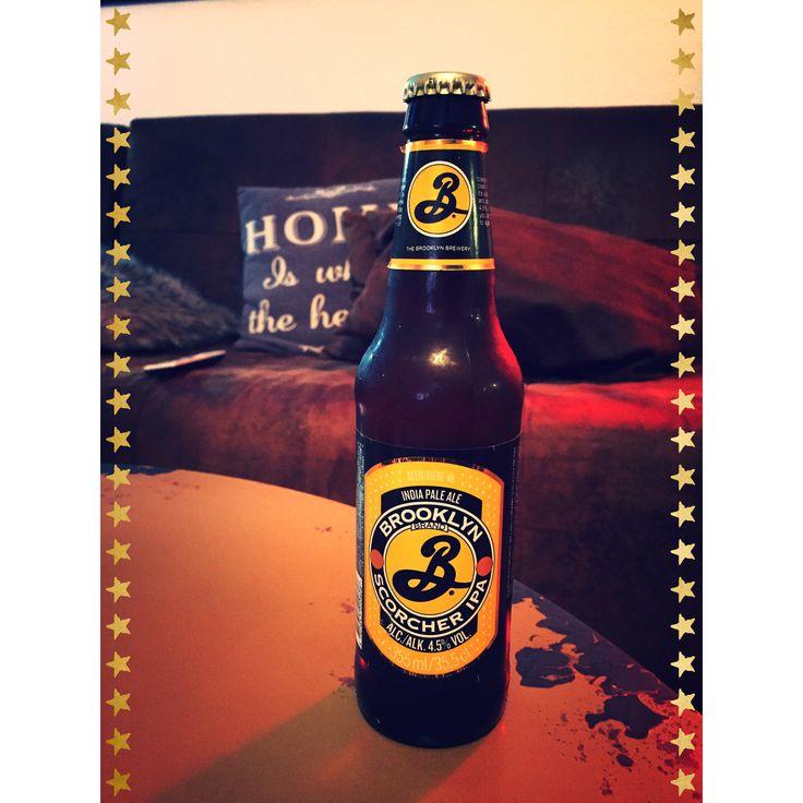Brooklyn Scorcher IPA, USA, getrunken @home, Jan 2018.   #Prost  #Biertagebuch #Bier #beer