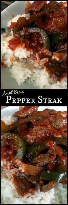 Pepper Steak | Aunt Bee's Recipes