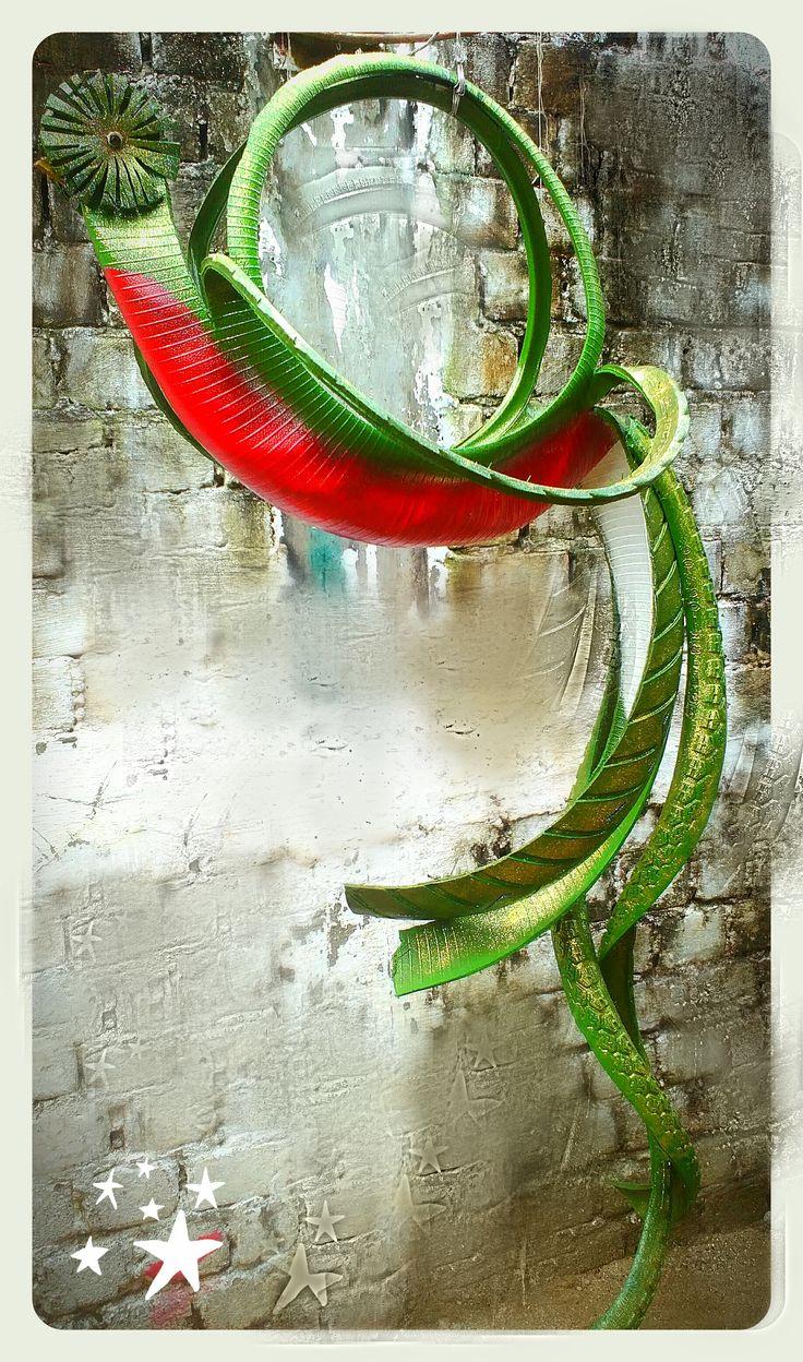 bonito quetzal hecho con neumatico de moto!! creado por: Adrian Sanchez