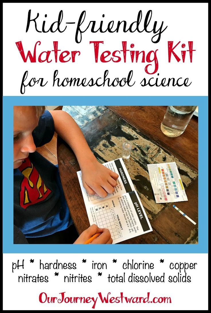 This water testing kit is fabulous as a science experiment kit for kids.