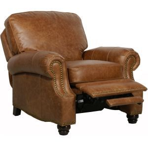 Barcalounger Recliners Barcalounger Longhorn II Leather Recliner - Chaps Saddle Recliners