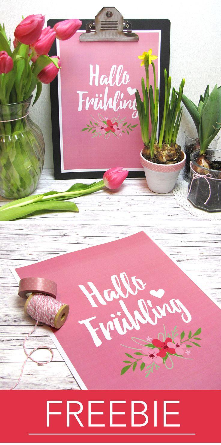 Frühlings-Freebie zum Ausdrucken! #printable #spring