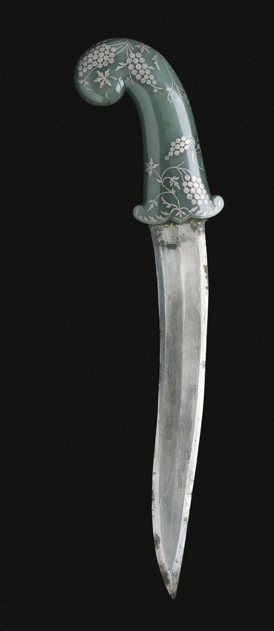 Dagger (khanjar) with jade hilt, made in Hyderabad, India in the mid 18th century