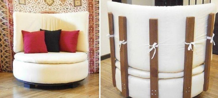 ECO-IDEAS Y RECICLAJE : Cómo transformar un neumático en un sillón circula...