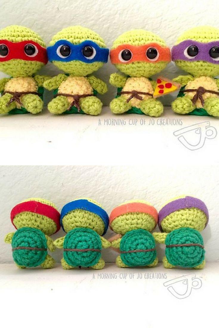 [Free Crochet Pattern] Baby Ninja Turtles!
