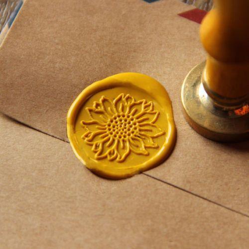 Sunflower+Wax+Seal+Stamp+flower+Sealing+wedding+invitation+brass+wax+stamp+WS16+#Unbranded