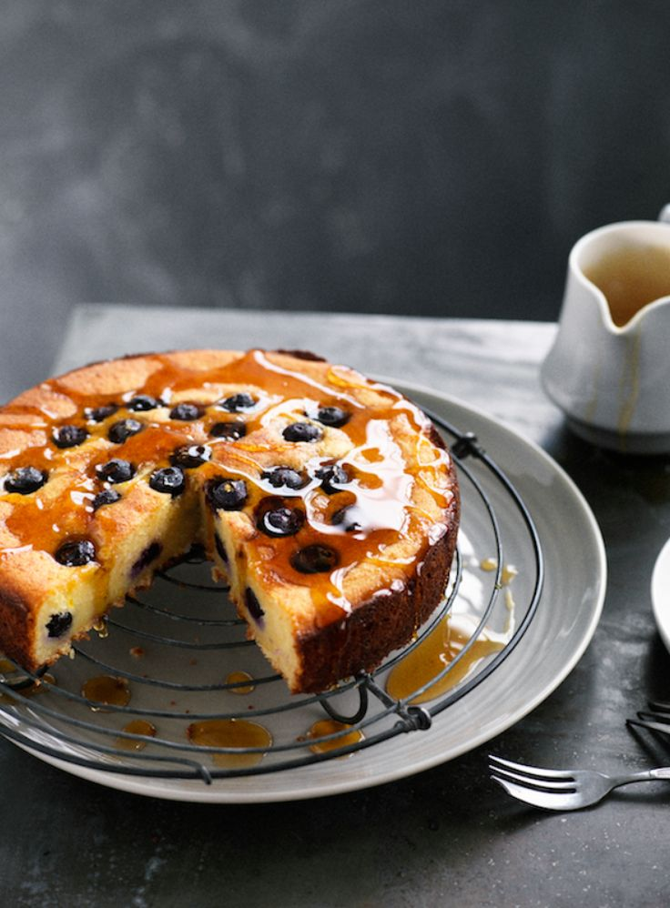 Blueberry and Orange Cake with Lady Grey Syrup