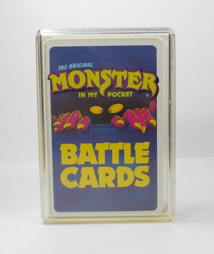 Monster In My Pocket Series 1 Complete Set Battle Card Matchbox M.I.M.P.
