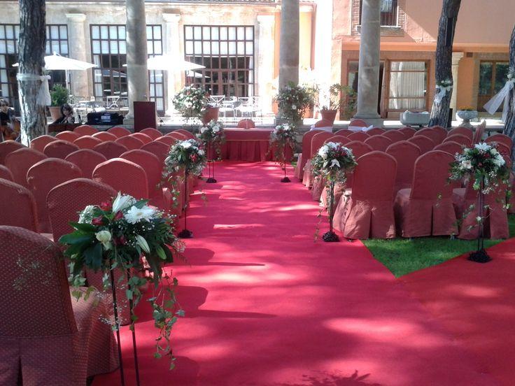 #parador de #tordesillas #bodas con #encanto #rusticChic #ceremonia #civil