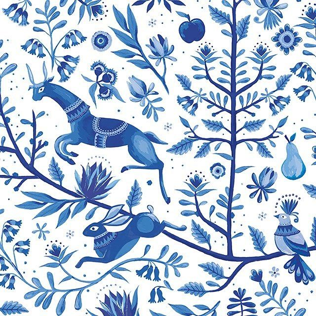 O T O M I // MOZI's timeless blue and white print, created in the Melbourne studio, is inspired by the uniquely detailed & vibrant aesthetic of traditional Mexican Otomi embroidery.