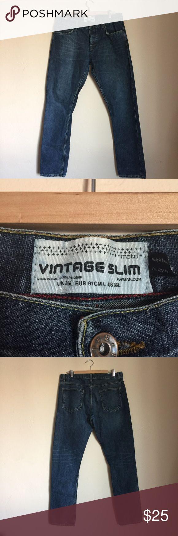Topman Mens Jeans Topman Mens Jeans. Made in Turkey Size 36 x 32. Vintage Slim Topman Jeans Slim