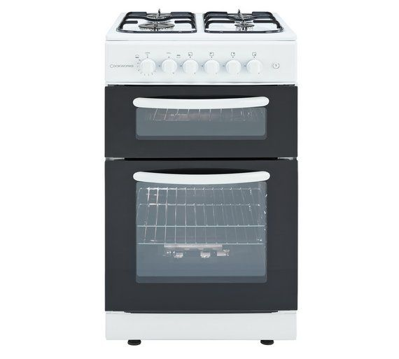 Buy Cookworks CGT50W Twin Gas Cooker - White at Argos.co.uk - Your Online Shop for Freestanding cookers, Cooking, Large kitchen appliances, Home and garden.