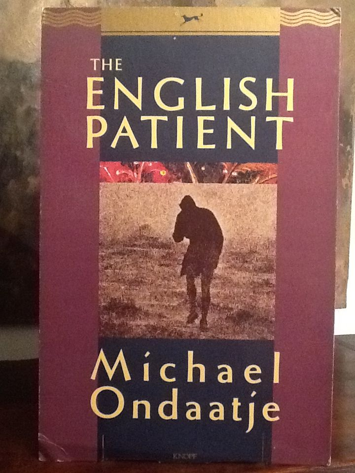 Love books - The English Patient by Michael Ondaatje (bookstore display board)