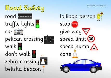 Road safety word mat