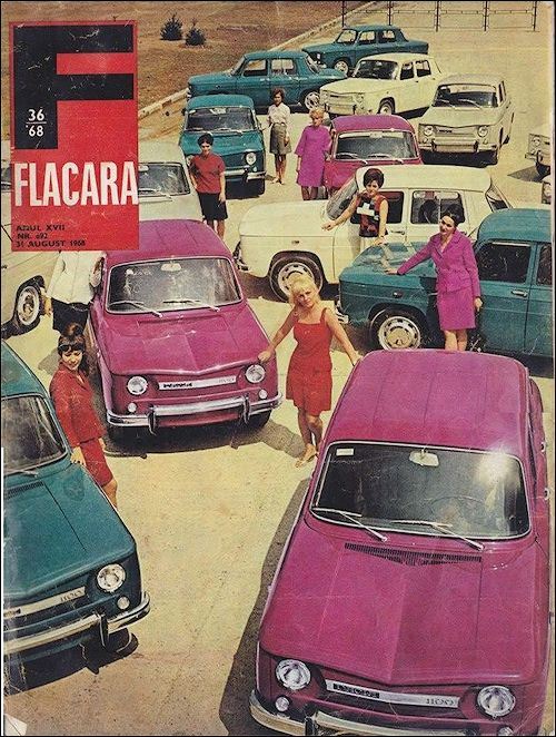 Dacia 1968 - in Romania, a version of the Renault 8 was produced under license between 20th August 1968 and 1971 as the Dacia 1100 in Colibași (today Mioveni) at DACIA factory. Around 44.000 were made.