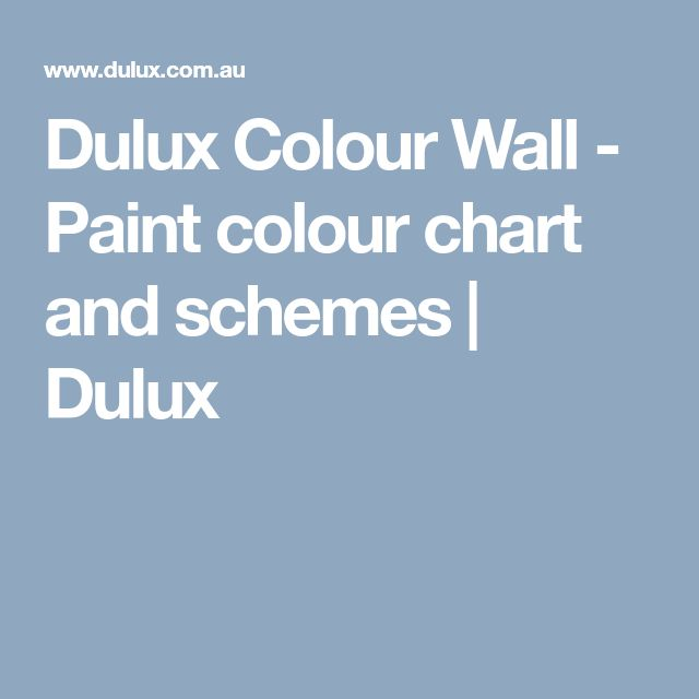Dulux Colour Wall - Paint colour chart and schemes | Dulux