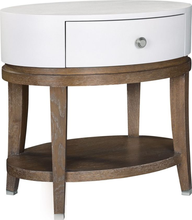 Sectional Sofa Anthony Baratta Luciana Oval Bedside Table Thomasville us Luciana Oval Bedside Table brings both a touch of