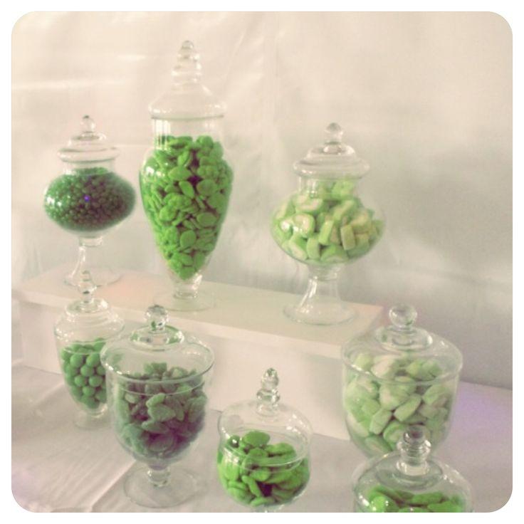 Green Theme Candy Buffet
